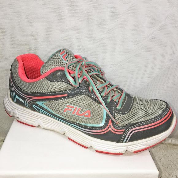 b06c46a31a Fila Shoes   Soar 2 Gray Mesh With Aqua Trim Running   Poshmark